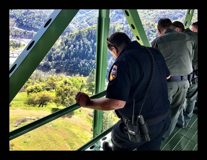 The Placer County Sheriff's Office shared this photo showing the area where the woman fell.