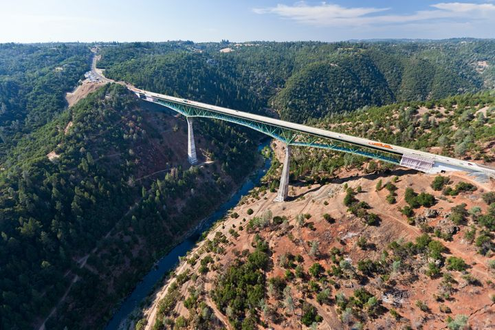 The Foresthill Bridge is California's highest bridge, with its highest point reaching 730 feet off the ground.