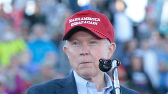 MADISON, AL - FEBRUARY 28:  United States Senator Jeff Sessions endorses Donald Trump for President of the United States at Madison City Stadium on February 28, 2016 in Madison, Alabama.  (Photo by Taylor Hill/WireImage)