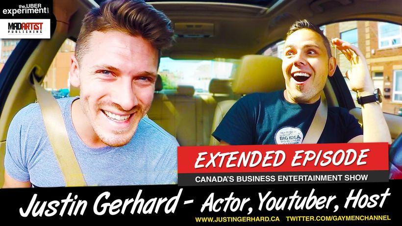 Justin Gerhard - Host of @gaymenchannel on left, Marcin Migdal - Serial Entrepreneur & Host of The Uber Experiment on rig