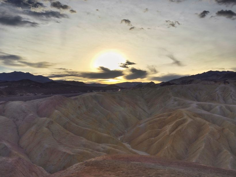 <em>Zabriskie Point at sunrise</em>