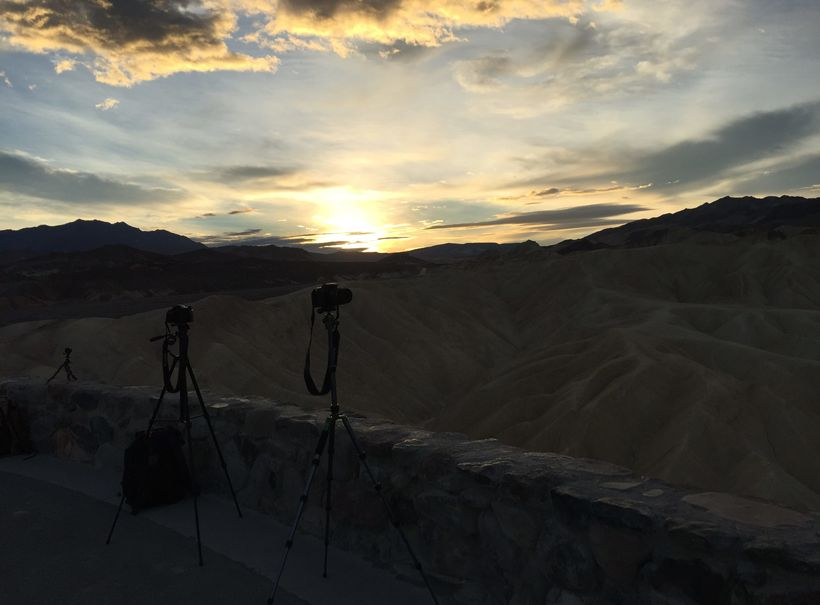 <em>Zabriskie Point sunrise, Death Valley</em>