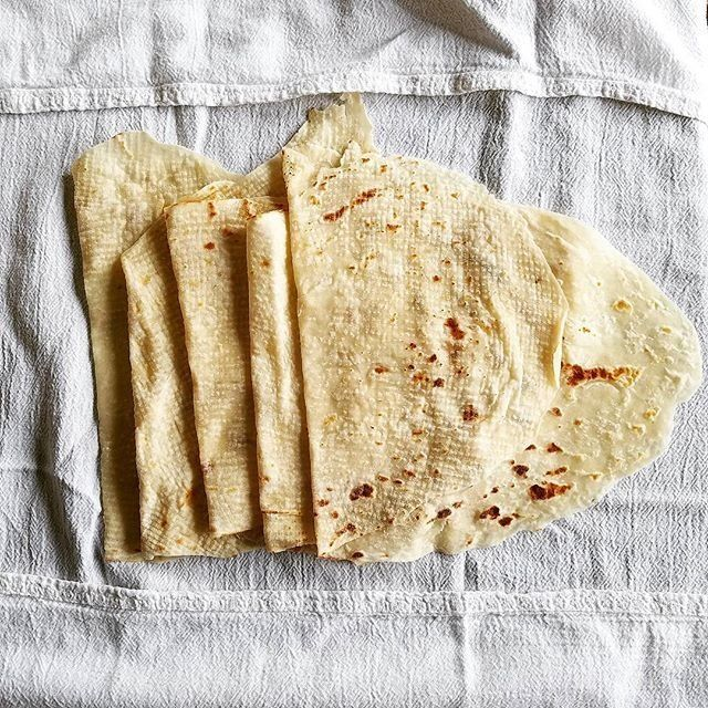 Freshly made lefse.