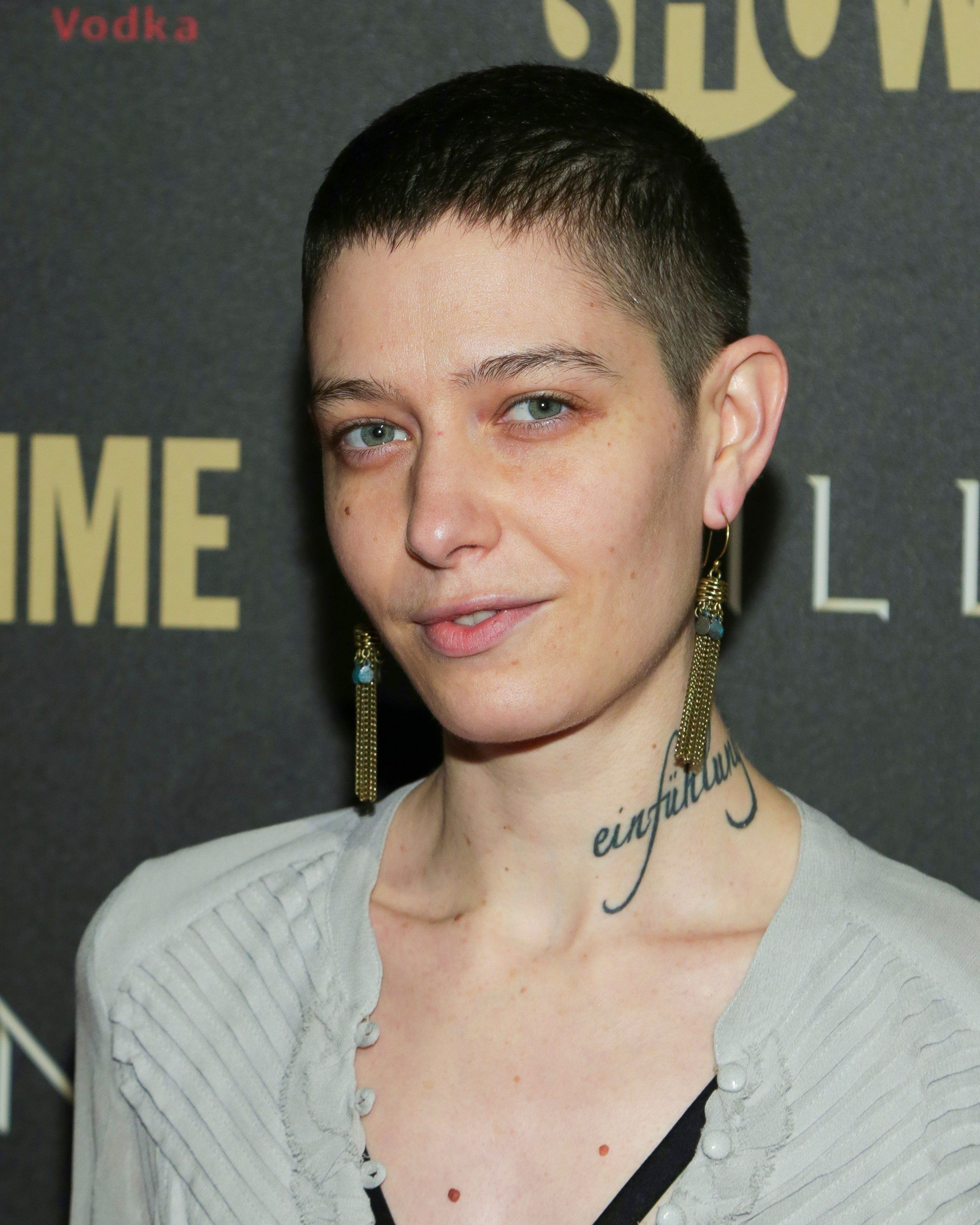 NEW YORK, NY - FEBRUARY 13:  Actress Asia Kate Dillon attends Showtime's 'Billions' Season 2 premiere held at Cipriani 25 Broadway on February 13, 2017 in New York City.  (Photo by Brent N. Clarke/FilmMagic)