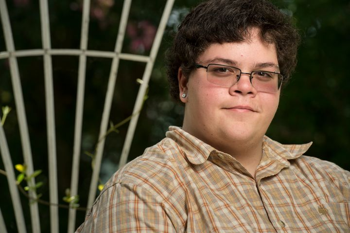 Gavin Grimm, 17, is photographed at his home in Gloucester, Virginia.