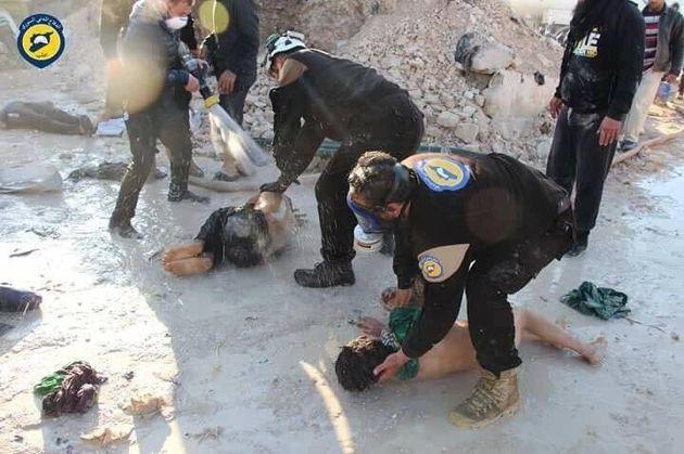 White Helmets attend
