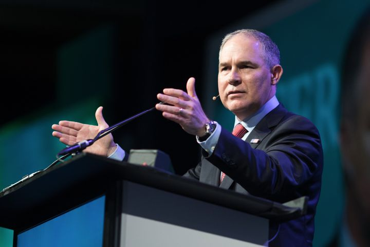 Scott Pruitt, administrator of the Environmental Protection Agency, speaks during an event in Texas last month.