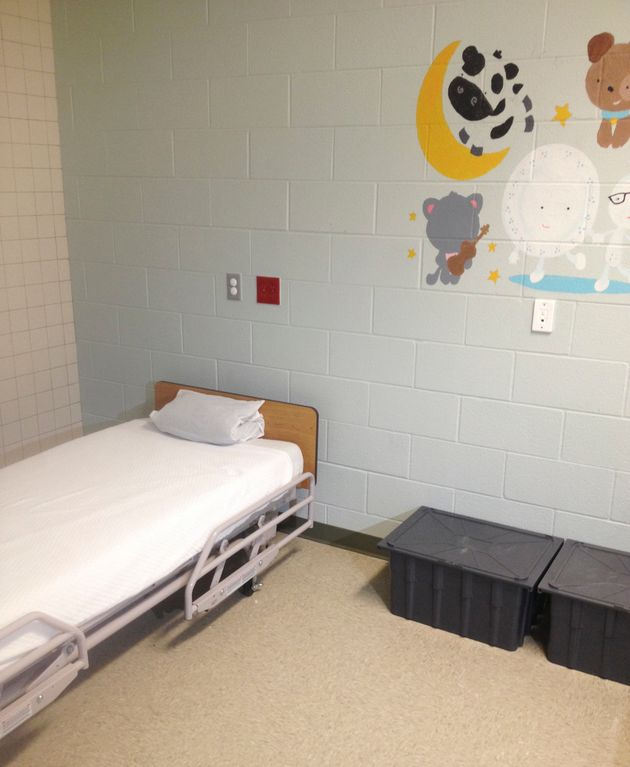 A view inside the family detention facility in Karnes City, Texas, on July 31, 2014. Texas Republicans...