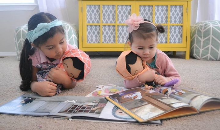 Jessica Sebastian has also made special dolls for her own daughters.