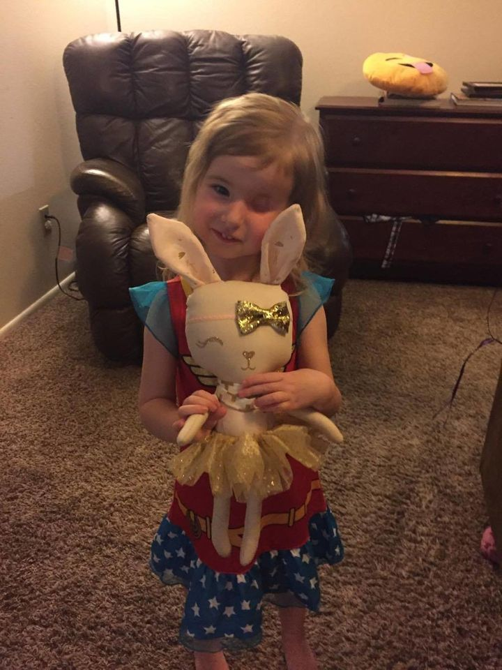 Brynn Munger received a special gift for her third birthday.
