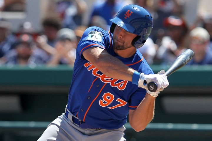 Tim Tebow at a spring training game in March.