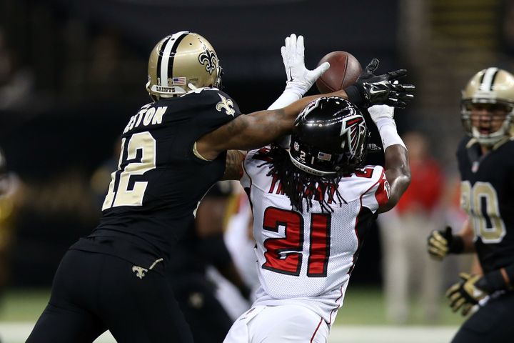 Trufant -- pictured in a 2014 game versus the Saints -- has been one of the game's premier cover guys since entering the leag