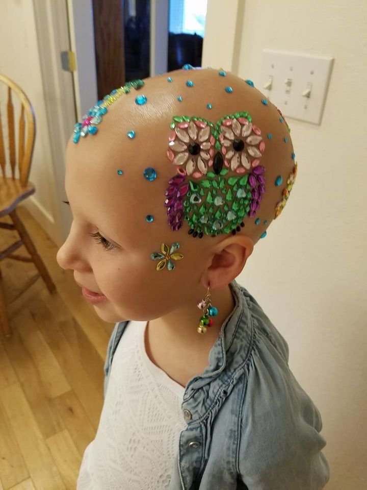 Wride said her daughter was thrilled when she saw the jewels on her head.