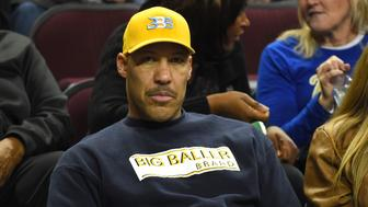 LOS ANGELES, CA - JANUARY 25:  LaVar Ball, father of Lonzo Ball #2 of the UCLA Bruins, watches the game against the USC Trojans at Galen Center on January 25, 2017 in Los Angeles, California.  (Photo by Jayne Kamin-Oncea/Getty Images)