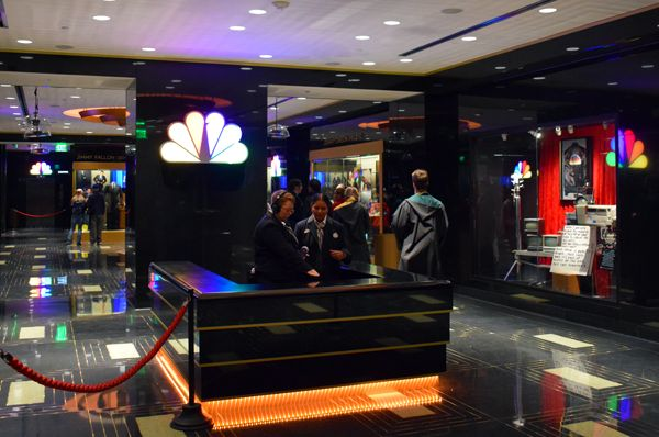 Welcome lobby of Race Through New York Starring Jimmy Fallon at Universal Studios Florida