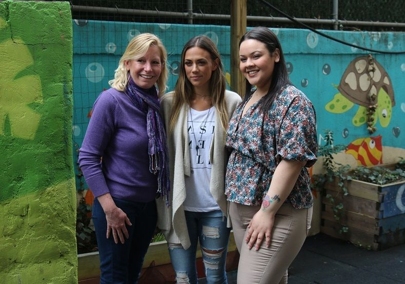 <strong>Jana Kramer</strong> meets with Lisa, a survivor of domestic violence herself, and Gimella, a young woman who witness