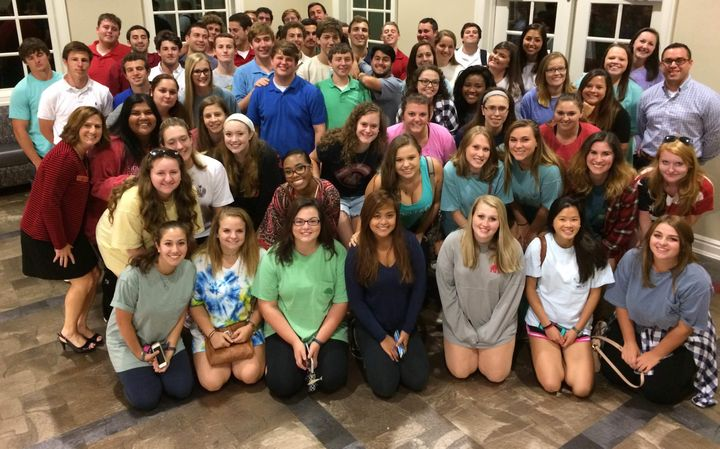 <em>Students at the University of Alabama participating in the Safe Smart Dating program in Fall 2015.</em>