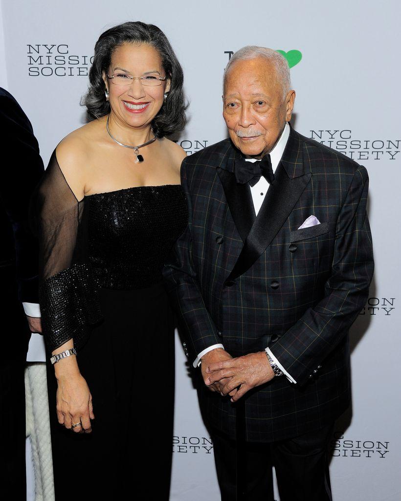 Elsie  McCabe Thompson and Former Mayor David Dinkins