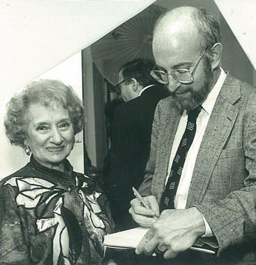 Ruth Gruber with author Jonathan Fast.