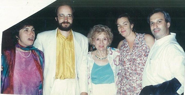Ruth Gruber in LA at an opening of her play.