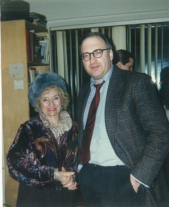 Ruth Gruber with author Laurence Bergreen.