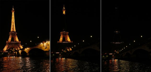 Paris turned offthe Eiffel Tower's lights to draw attention to climate change during Earth Hour...