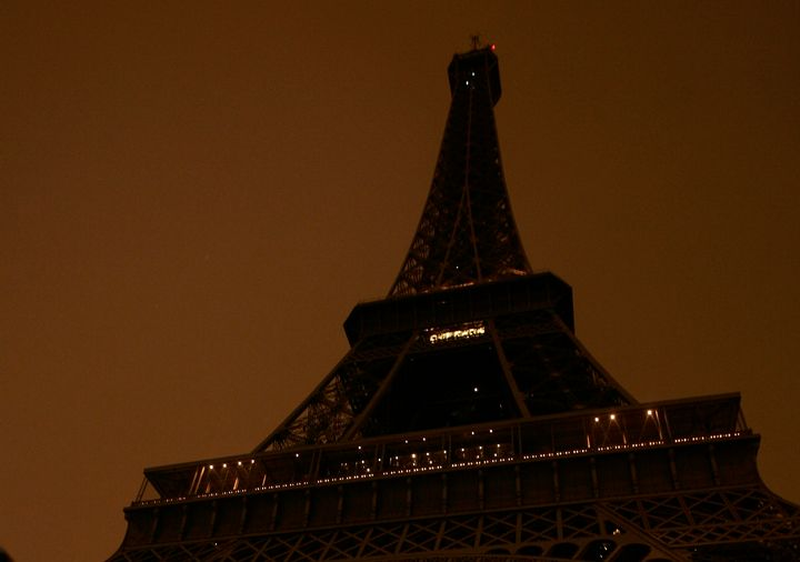 In 2007, the Eiffel Tower went dark as part of an environmental campaign.