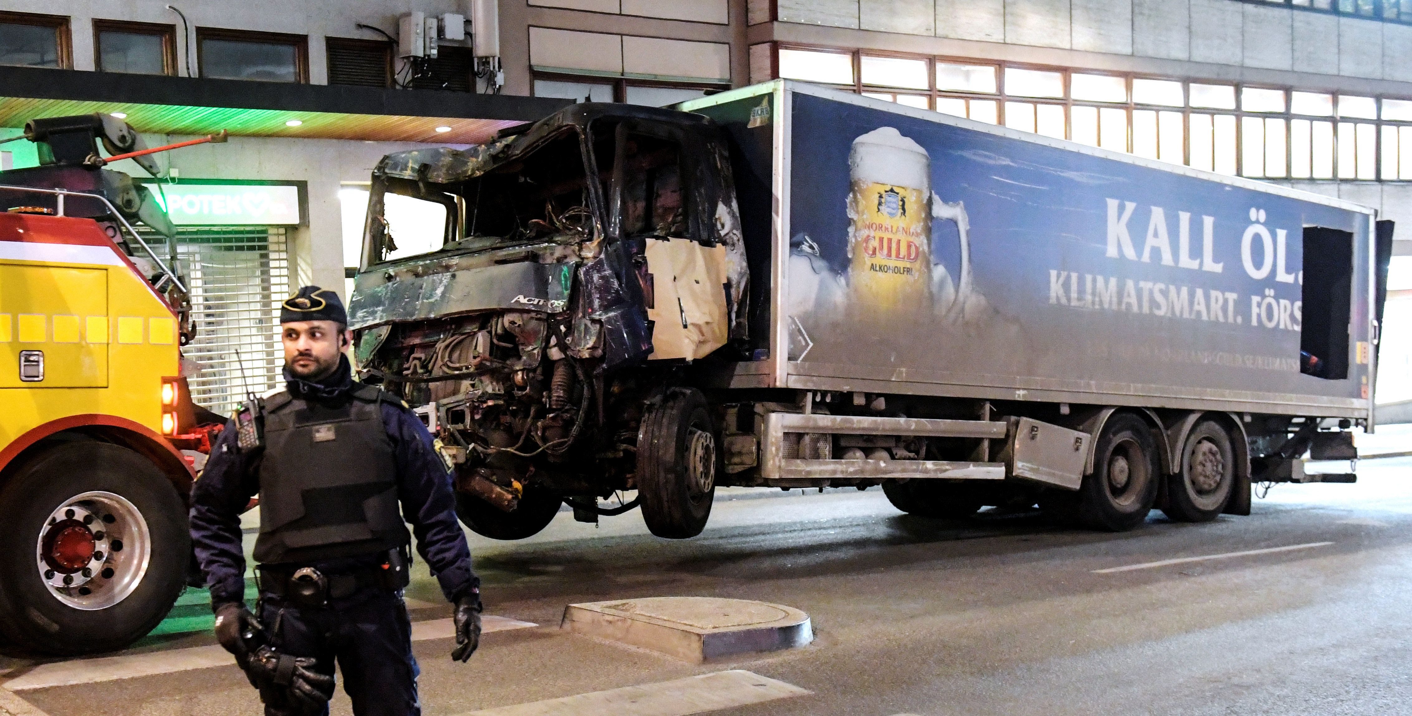 The truck used in Friday's attack in