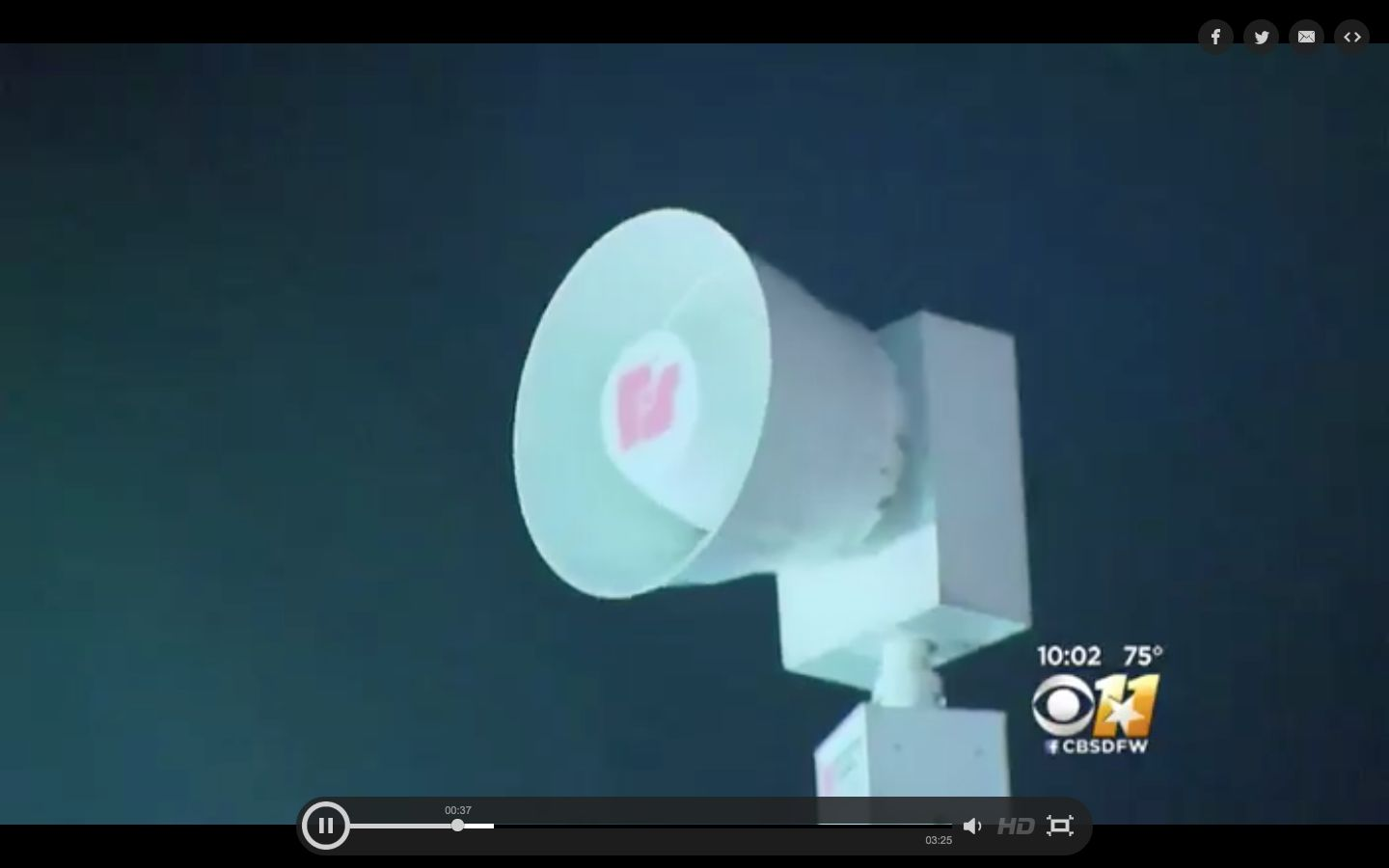 Dallas residents endured an hour and a half of city-wide sirens just before midnight on Friday.