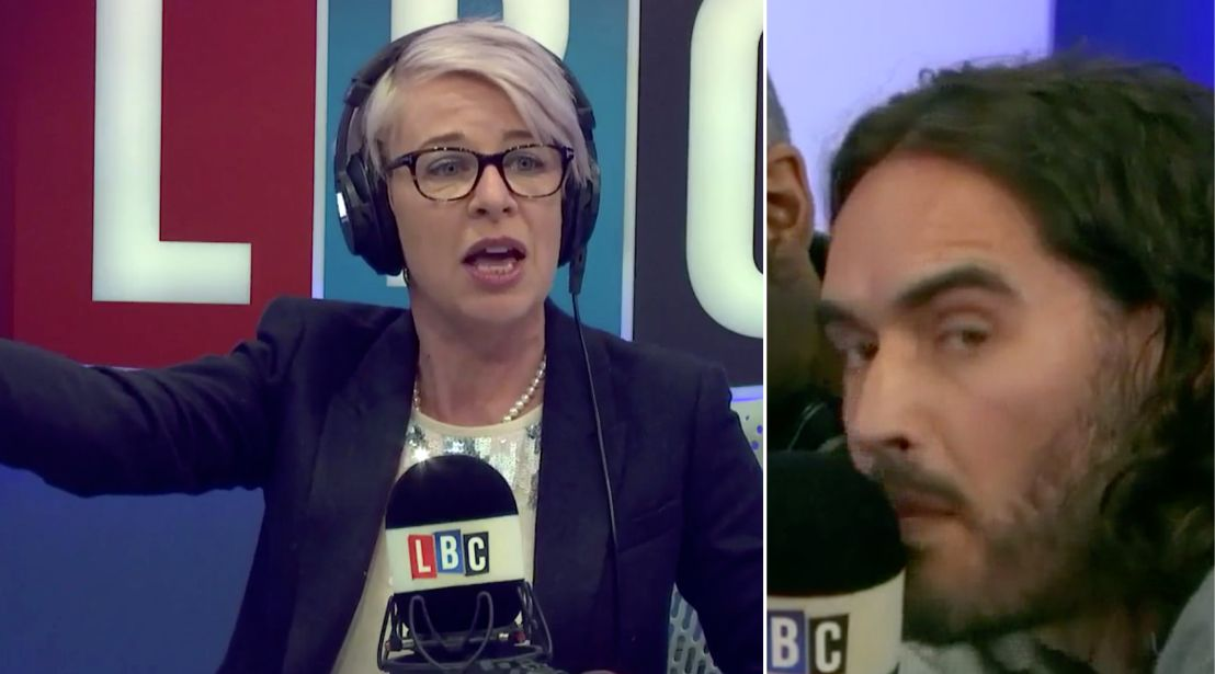 Russell Brand Storms Studio And Interrupts Katie Hopkins During Live