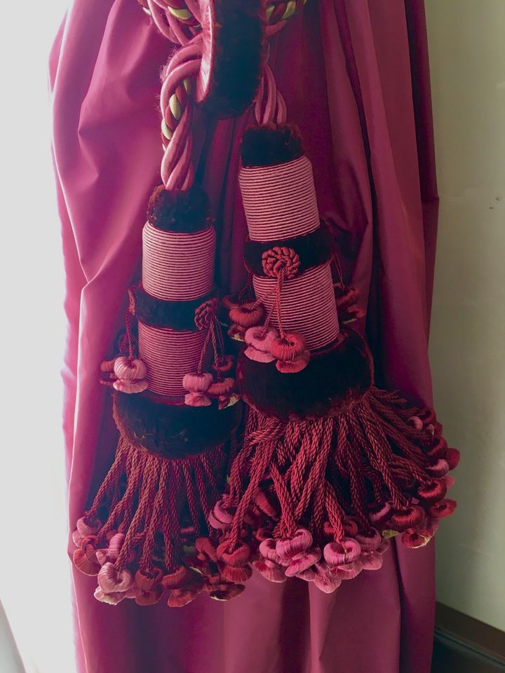 <p>The madly complicated tassels in our room</p>