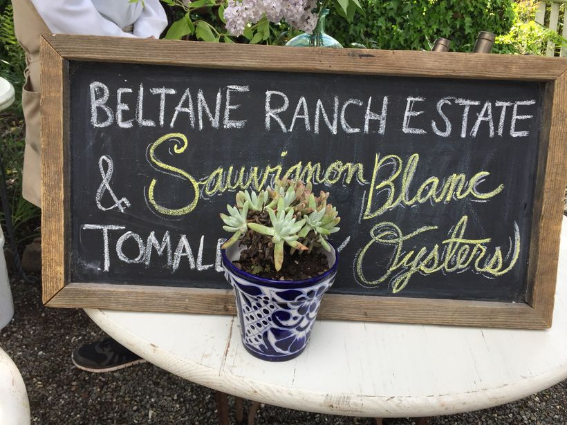 Beltane Ranch Estate oyster pairing