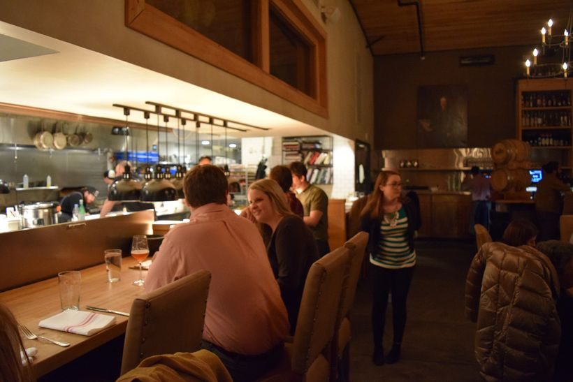 Chef's counter at Edmund's Oast