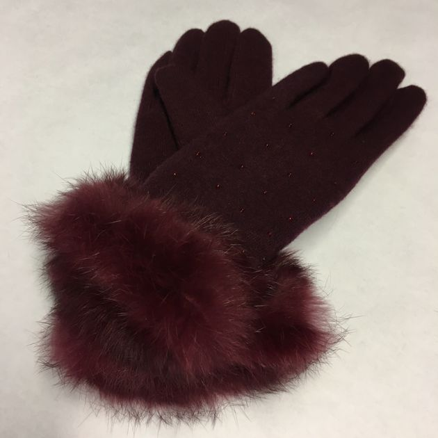 Gloves by Moda in Pelle and sold in House of Fraser in store and online as fake fur but purchased and...