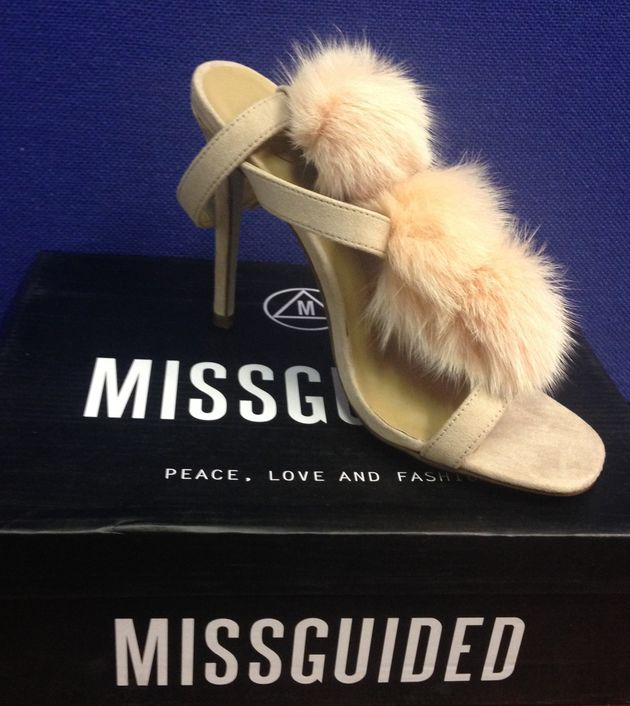 Shoes by fur-free company Missguided purchased by HSI UK and tested positive for illegal cat