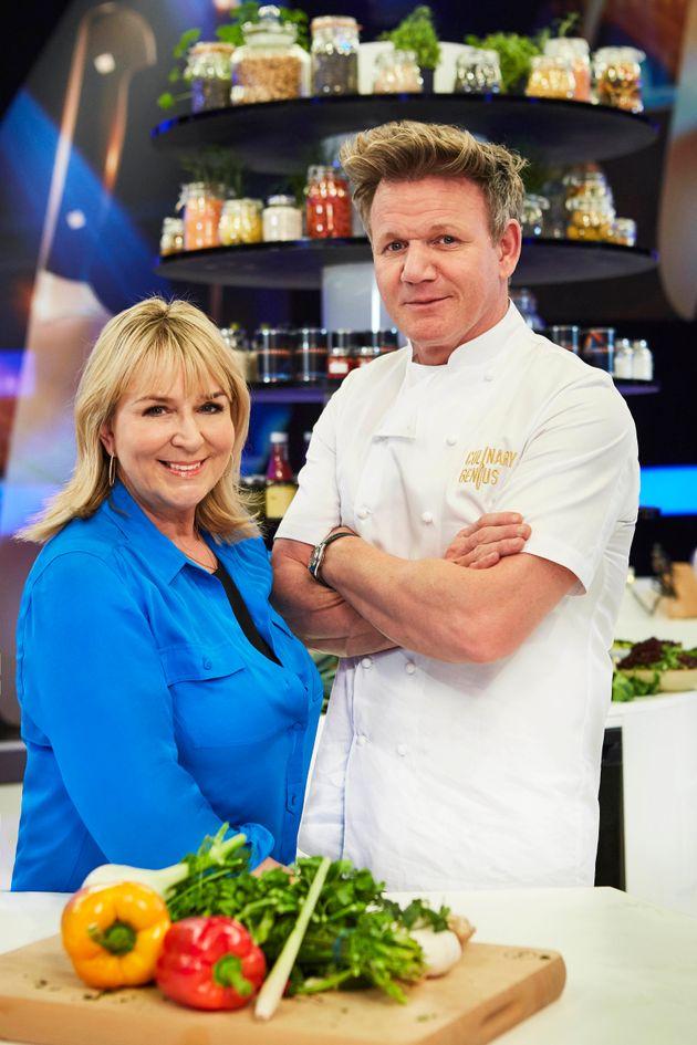 Fern Britton and Gordon Ramsay in the 'Culinary Genius'