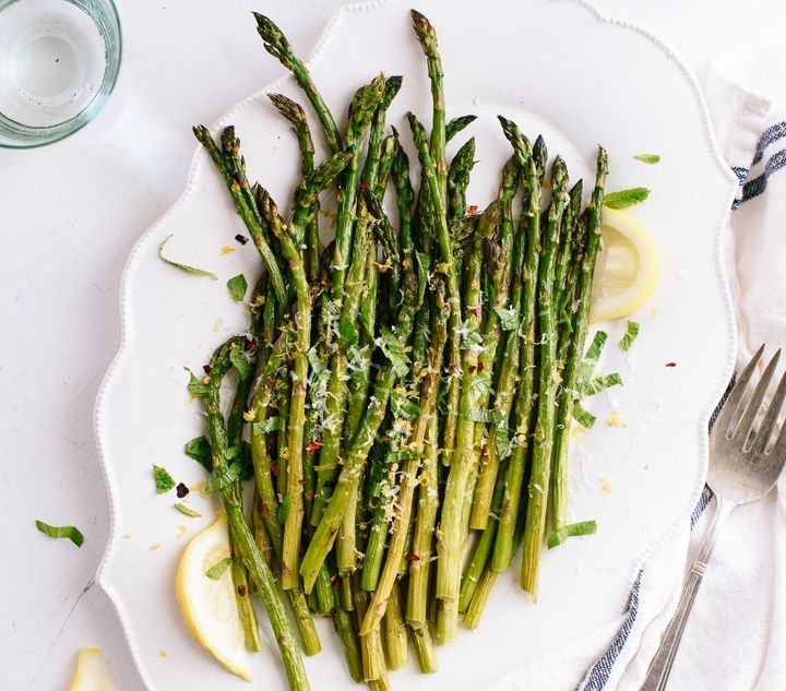 "Get this&nbsp;<a href=""http://cookieandkate.com/2016/lemony-roasted-asparagus-recipe/"" target=""_blank"">Lemony Roasted Asparag"
