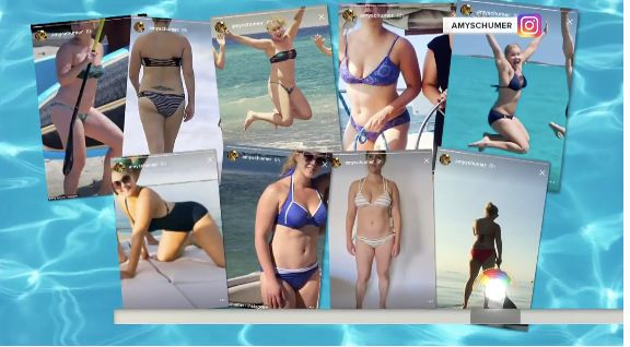 The many bathing suit photos Schumer posted on Instagram this