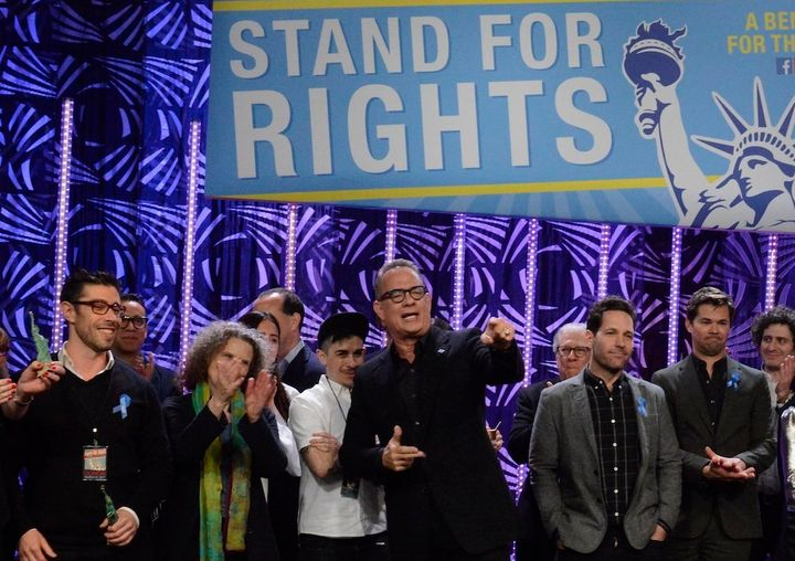 Tom Hanks telling people to stand for rights.