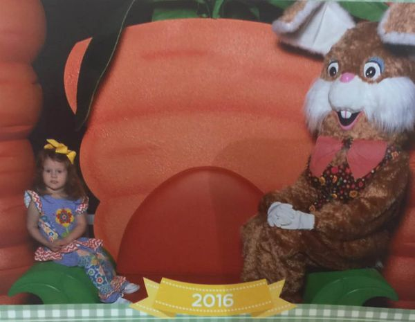 She wouldn't even get near the bunny.