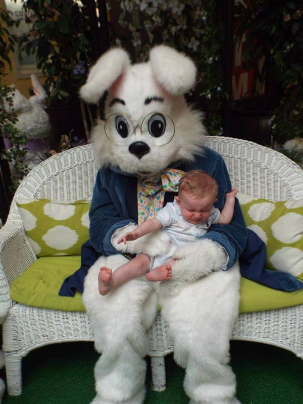 He was not impressed with the Bunny!