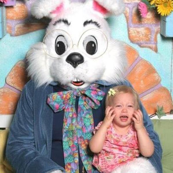 She was so excited to meet the Easter Bunny, even running up to him before it was her turn. All of that excitement turned to
