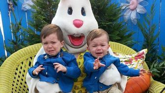 47 Photos Of Kids Who Were Not Impressed With The Easter Bunny