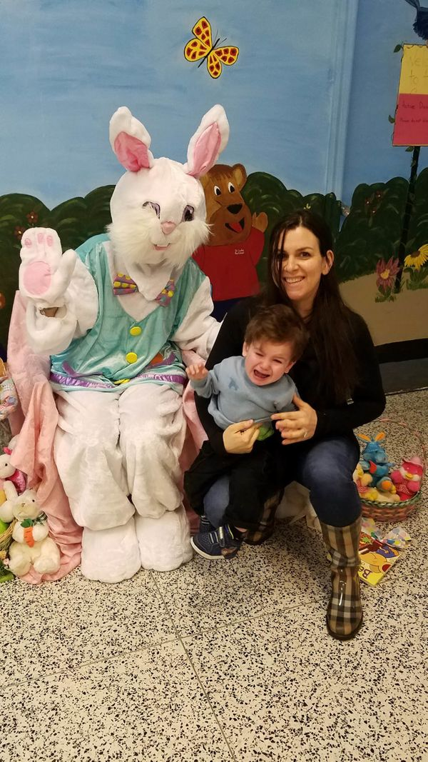Between my horrified son and the Bunny's eye malfunction, this is one we'll never forget.