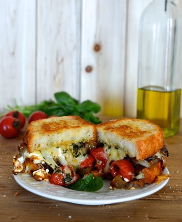 "<strong>Get the <a href=""http://thewoksoflife.com/2014/09/ratatouille-grilled-cheese/"" target=""_blank"">Ratatouille Grilled Ch"