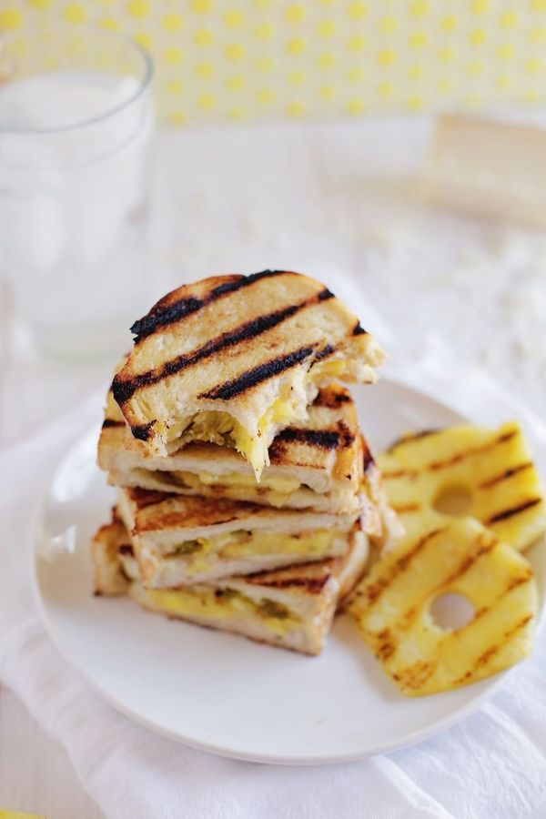 """<strong>Get the <a href=""""http://abeautifulmess.com/2016/01/sweet-heat-grilled-cheese-sandwiches.html"""" target=""""_blank"""">Sweet H"""