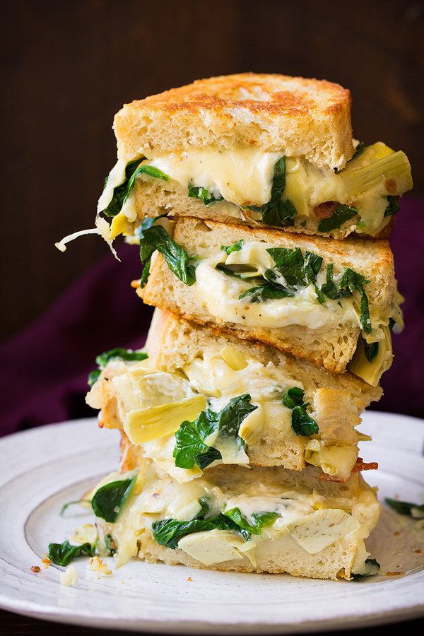 "<strong>Get the <a href=""http://www.cookingclassy.com/spinach-artichoke-grilled-cheese/"" target=""_blank"">Spinach Artichoke Gr"