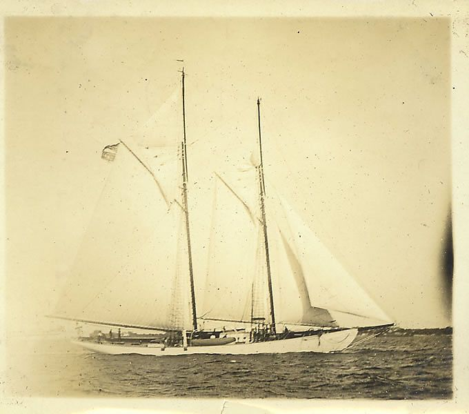 The Schooner Zodiac, owned originally by the Johnson family.