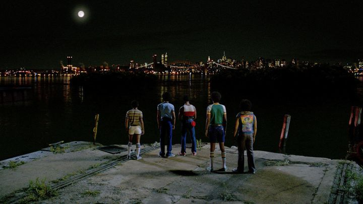"Tremaine Brown Jr., Justice Smith, Shameik Moore, Skylan Brooks, and Jaden Smith in ""The Get Down."""