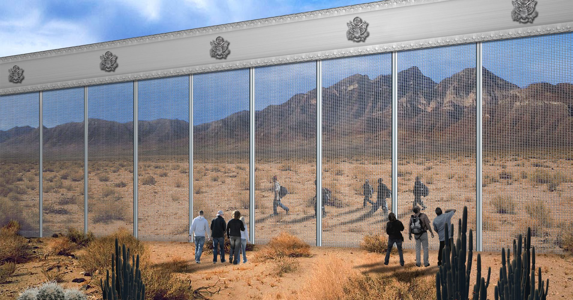 The Unlikely Design Proposal For Trump S Border Wall From